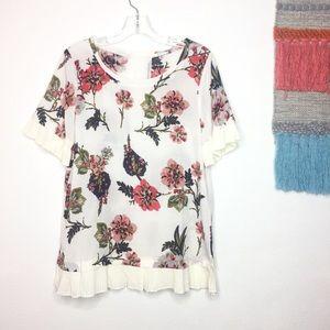 Jodifl | Floral Sheer Blouse